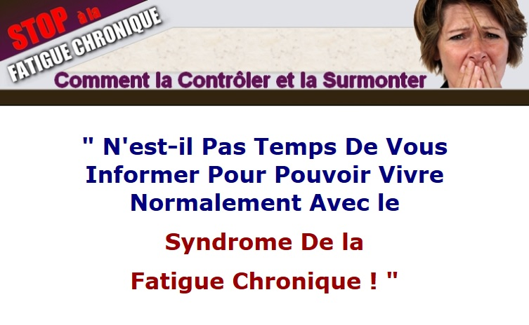 La solution au syndrome de fatigue chronique